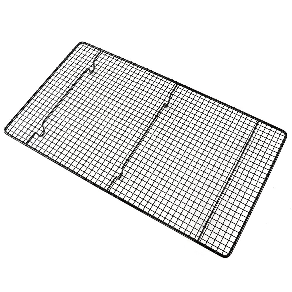 Stainless Steel Cooling Rack and Baking Rack, Oven Safe Rust-Resistant, Heavy Duty Grid for Cookies, Cakes and Bread (10 Inches x 18 Inches)