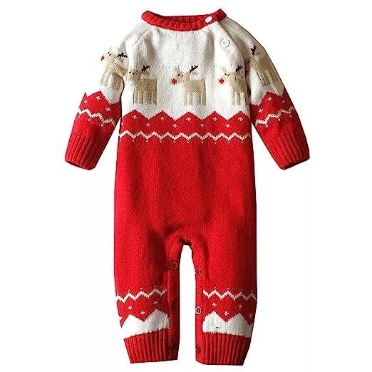 Amazoncom Infant And Toddler Baby Boys Girls Christmas Reindeer