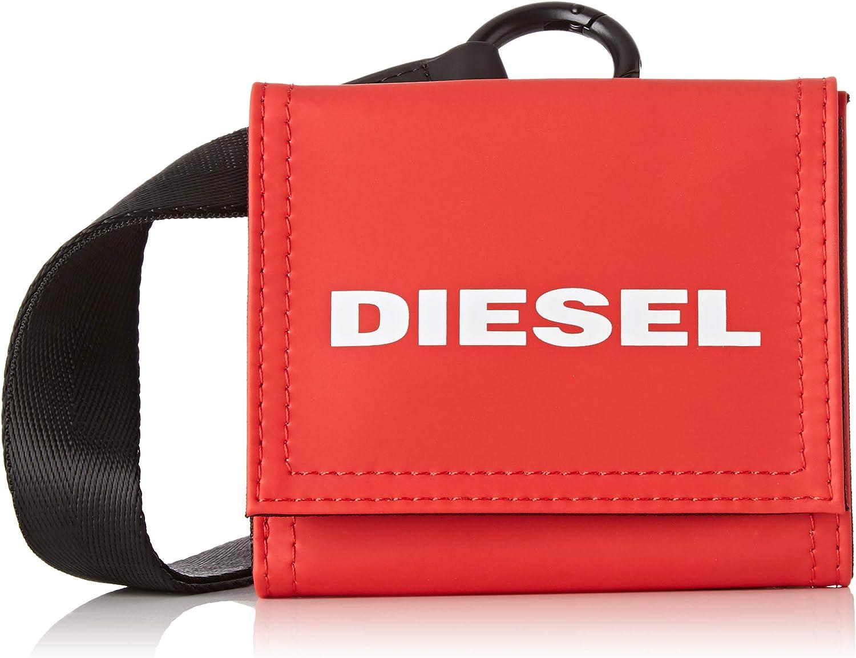 Diesel Mens Standard BOLDWALLET Yoshino Loop-Wallet Fiery Red UNI