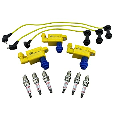 Ignition Coil Packs Wires Spark Plugs for Supra Aristo Soarer IS300 VVTi 1JZ 2JZ: Automotive