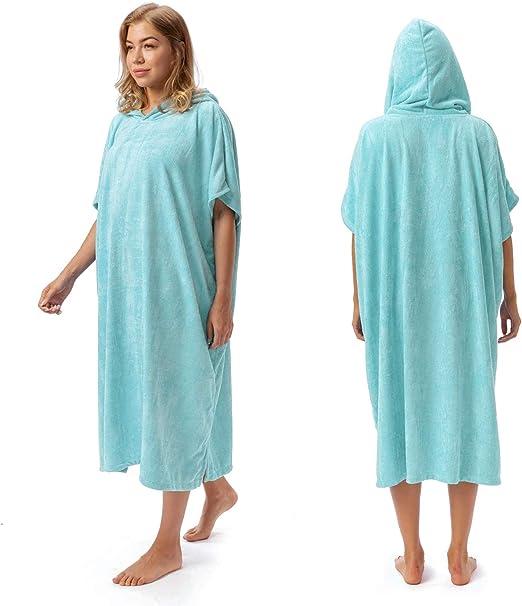abrigo de buceo con capucha para hombre y mujer para playa Poncho de surf para adultos nataci/ón albornoz de secado r/ápido protecci/ón UV Shujin deportes acu/áticos