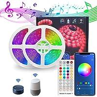 LED Strip Lights, Lights Strip Music Sync, App Control Remote, 5050 RGB LED Light Strip Color Changing, LED Lights Rope…