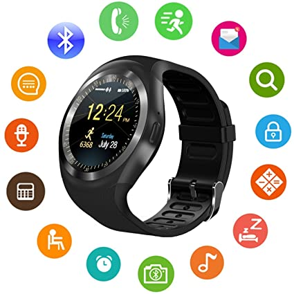 6430633617 Amazon.in: Buy Life Like Y1 Bluetooth Smart Watch with SIM Card Slot for  All Smartphones (Black) Online at Low Prices in India | Life Like Reviews &  Ratings