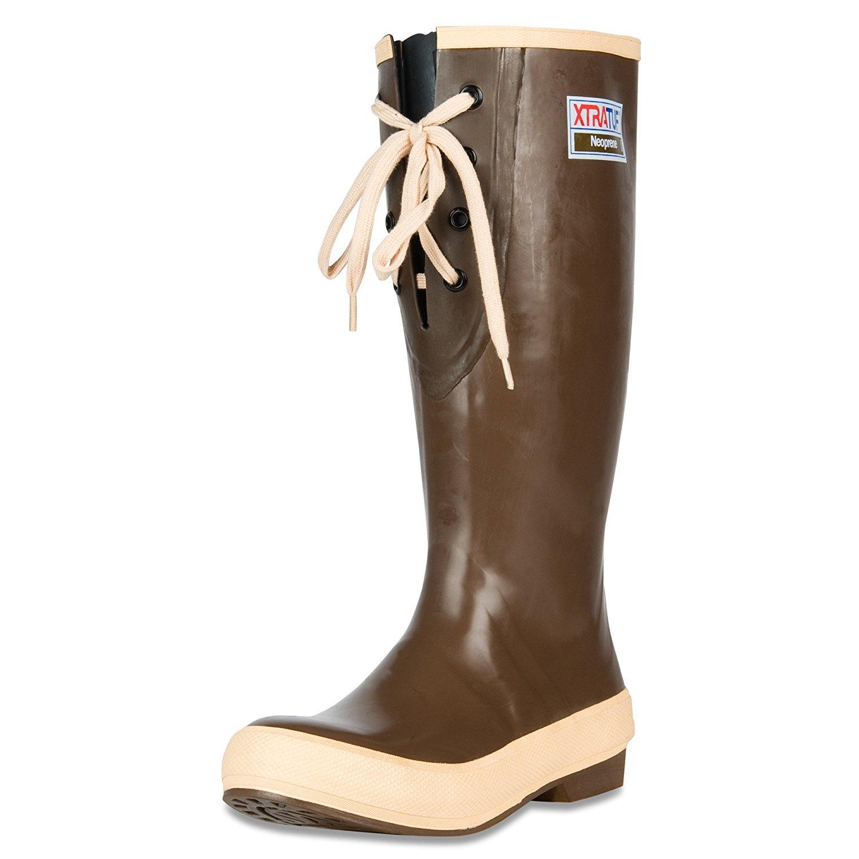 XTRATUF Legacy Series 15'' Lace Gusset Neoprene Women's Fishing Boots, Copper & Tan (22823G) by Xtratuf