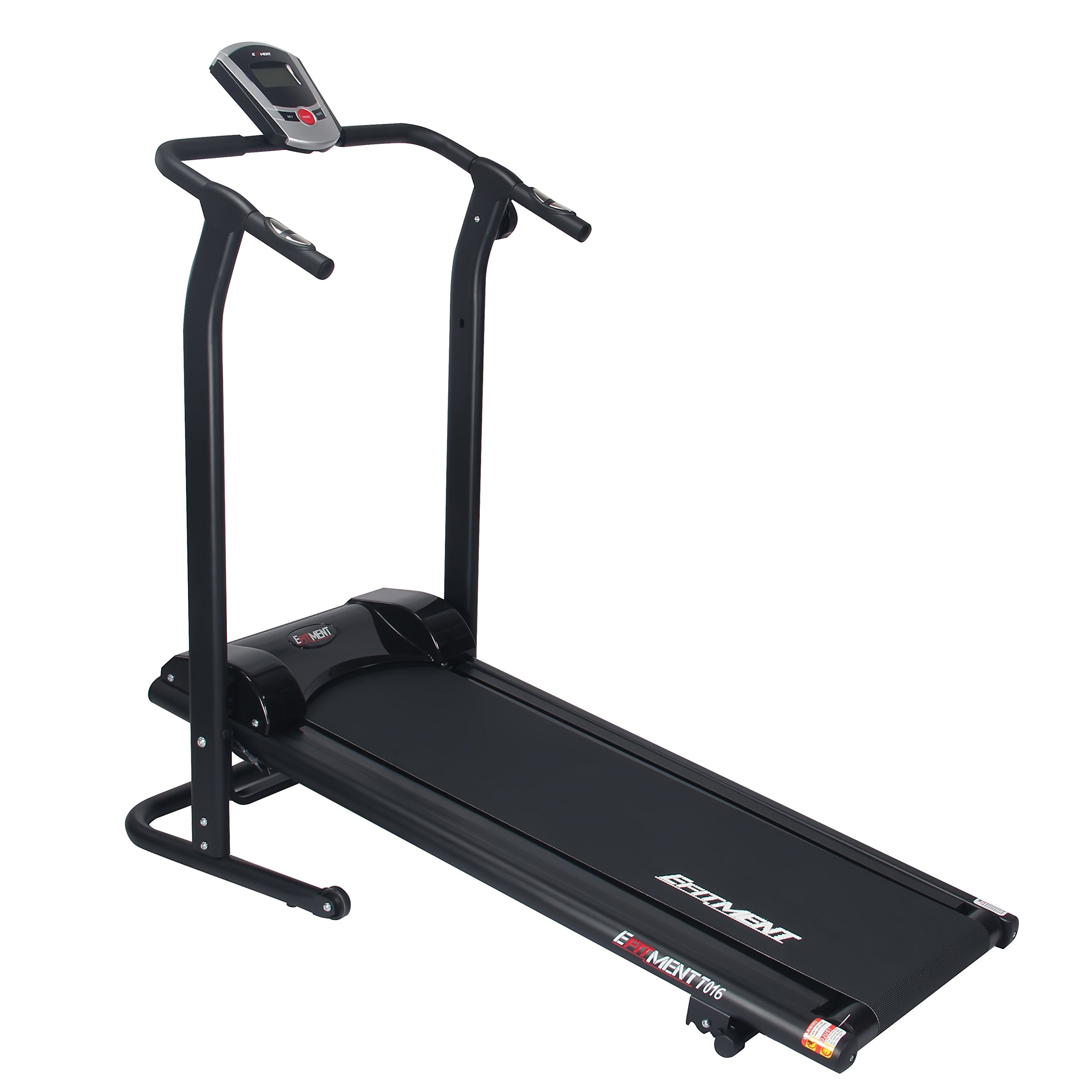 EFITMENT Adjustable Incline Magnetic Manual Treadmill w/Pulse Monitor by T016