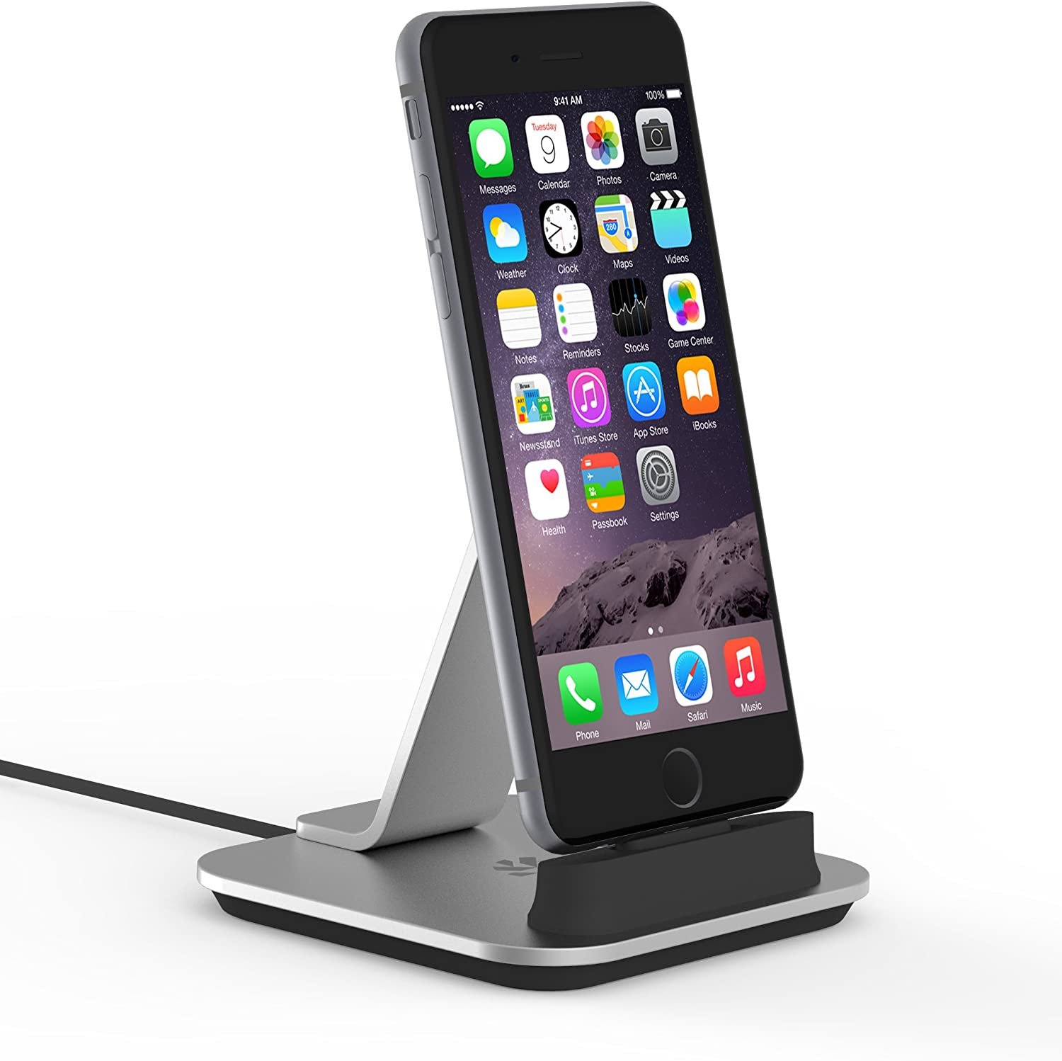 Kanex Desktop Charging Dock for iPhone 6//6 Plus//6s//6s plus Silver