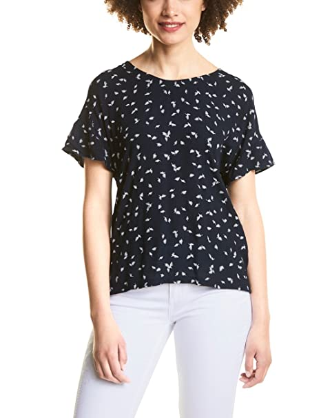 Street One 312108, Camiseta para Mujer, Multicolor (Deep Blue 21238), 44