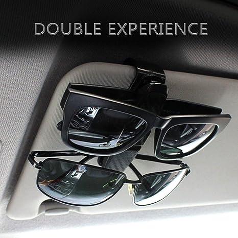 Clips Multifonctionnels pour Les Lunettes ou Les Cartes Support Porte Lunette Automobile en R/ésine ABS la Partie de Clip Peut /être Tourn/ée sur 360/° OFKPO Support de Lunettes Voiture