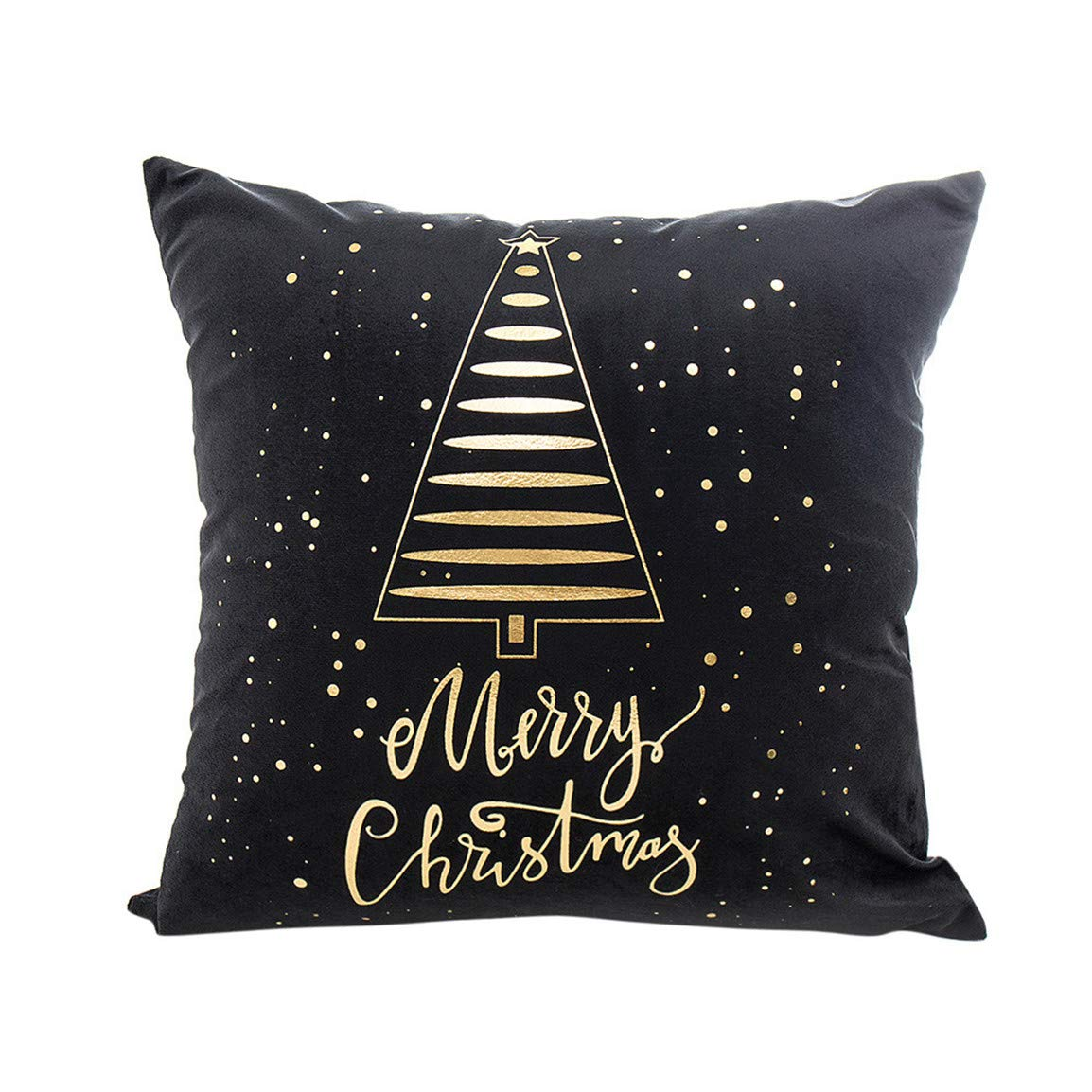 Bellelove Merry Christmas Seat Coussin/Dos Coussin Or Feuille D'impression Lavable Taie D'oreiller Canapé Taille Jet Coussin Housse