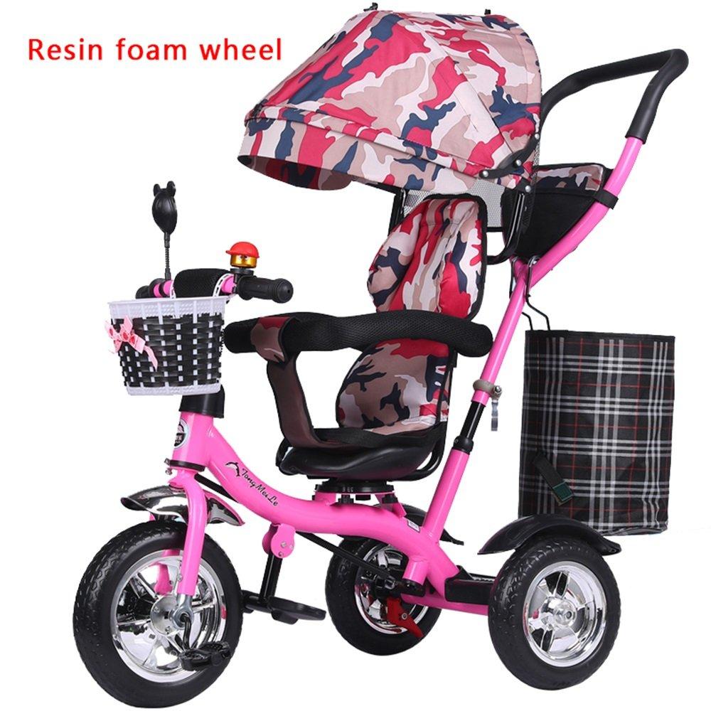 バブルホイールベビーガール乳母車、子供用自転車、自転車、子供三輪車、ライトトロリー (色 : # 1) B07CZ8BKNR # 1 # 1