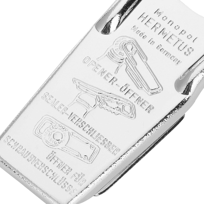 Hermetus Westmark Flaschen/öffner und -verschlie/ßer 3-in-1 Silber//Rot 61832270 Stahl//Gummi