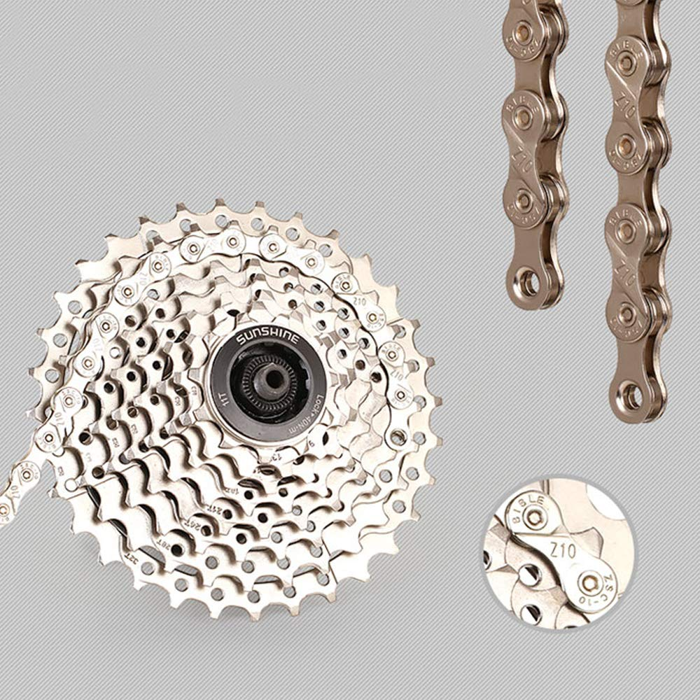 Full Plating Silver Rust-Proof Mountain Road Bike Chain 10 Speed 30 Speed VOANZO Bicycle Chain