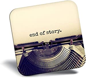 Destination Vinyl ltd Awesome Fridge Magnet - Retro Typewriter End of Story 14178