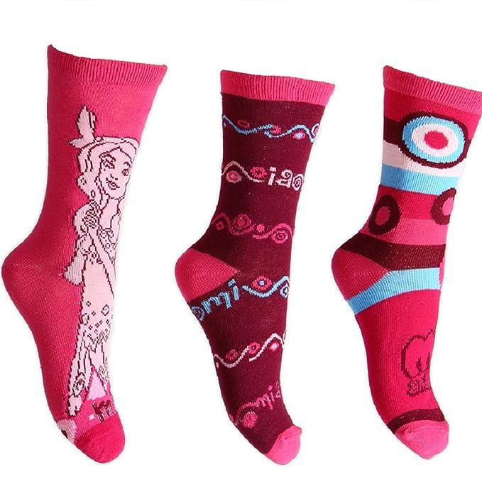 MIA AND ME Me - 3 pares de calcetines rosas para niñas de 3 a 12