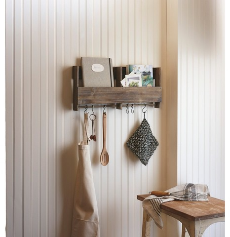Wooden Shelf with S Hooks : Target