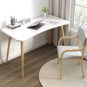 LT&NT Stable Multipurpose Work Table for Small Spaces Home Makeup Table,Computer Desk with Drawer,Simple Style Wood Writing Desk,Sturdy Spacious Office Table