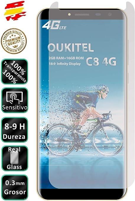 Movilrey Protector para Oukitel C8 y C8 4G Cristal Templado de ...