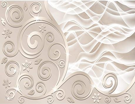 Fototapeten 3D - Abstrakt Beige 352 x 250 cm Vlies Wand ...