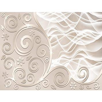 Fototapeten 3D   Abstrakt Beige 352 X 250 Cm Vlies Wand Tapete Wohnzimmer  Schlafzimmer Büro Flur