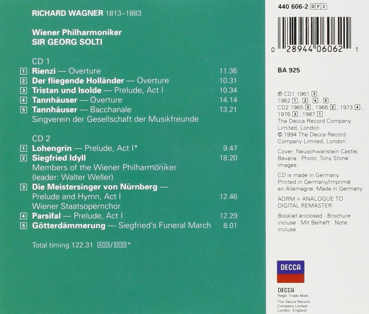 Wagner: Orchestral Favourites by CD