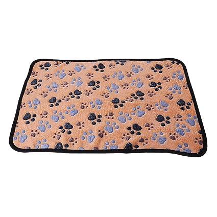 zrshygs Mantas para Mascotas Perros Mascotas Perros Gatos Manta Estera Transpirable Suave Coral Patas de Cachemira