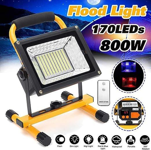Foco LED Recargable, portátiles Mano lámpara Foco, 800W 8000 ...