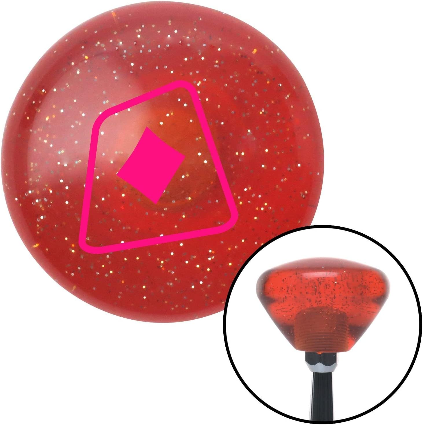 Pink Diamonds on a Card American Shifter 177086 Orange Retro Metal Flake Shift Knob with M16 x 1.5 Insert