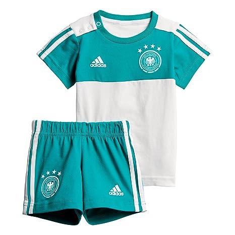 11059a68099 adidas D04268 Children's German National Team Football 3 Stripes Summer Set  Jersey & Short, Children's