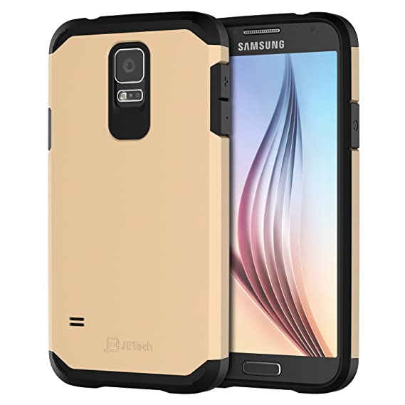 best service 6f80d bd44b JETech Case for Samsung Galaxy S5, Protective Cover, Champagne Gold