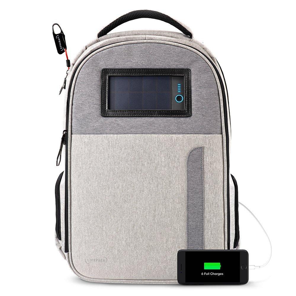 Solar Rucksack von Lifepack in der Frontansicht