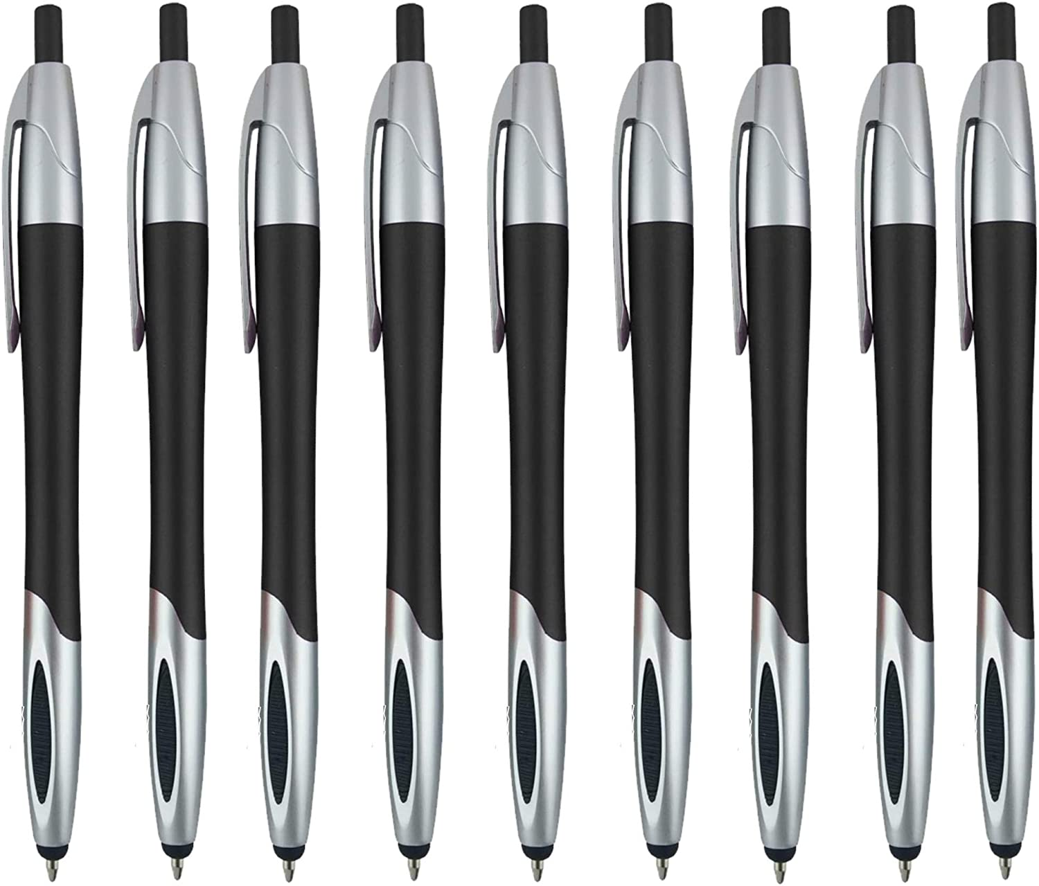 Stylus with Ball Point Pen for iPad Mini, iPad 2/3, new iPad, iPhone 5 4S 4 3GS, iPod Touch, Motorola Xoom, Xyboard, Droid, Samsung Galaxy S IV / S4, Galaxy S III/S3 (12 Pack) Black