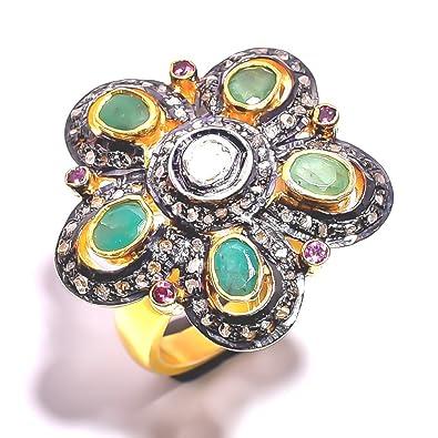 Buy Divya Gin Jewellers Diamond Emerald Pave Diamond