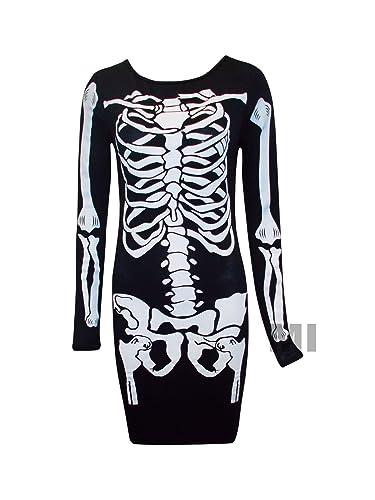 da donna teschi e scheletri e in casacca vestito Top 8-14 (M/L)