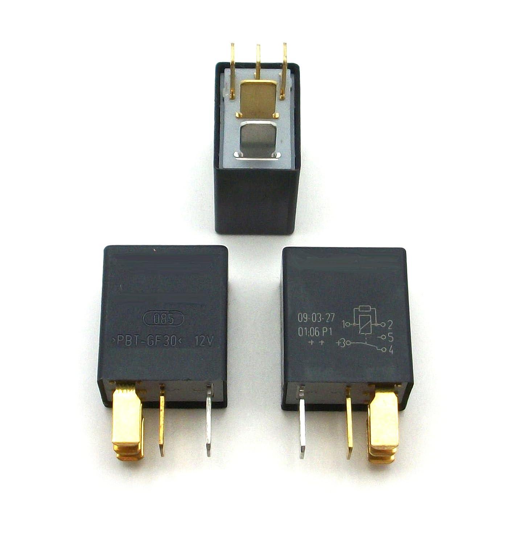 Micro Relay 3 x Pack Compatible with Moto Guzzi; 30 73 25 60, GU 01 73 17 60 / EnDuraLast bosch