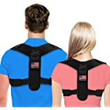 Posture Corrector For Men And Women - USA Designed Adjustable Upper Back Brace For Clavicle Support and Providing Pain…