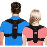 Posture Corrector For Men And Women - Adjustable Upper Back Brace For Clavicle To Support Neck, Back and Shoulder…