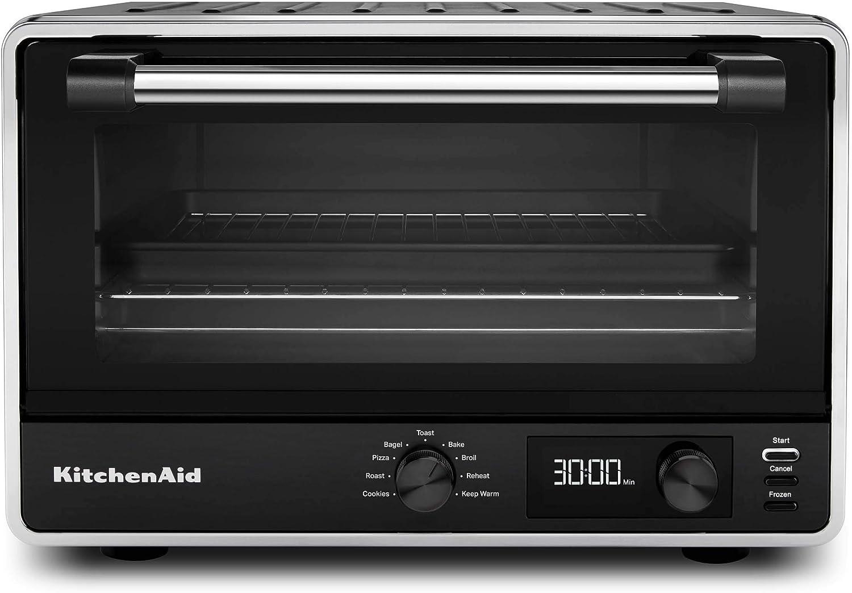 Amazon Com Kitchenaid Kco211bm Digital Countertop Toaster Oven Black Matte Kitchen Dining
