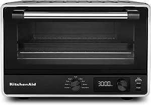 KitchenAid KCO211BM Digital Countertop Toaster Oven, Black Matte