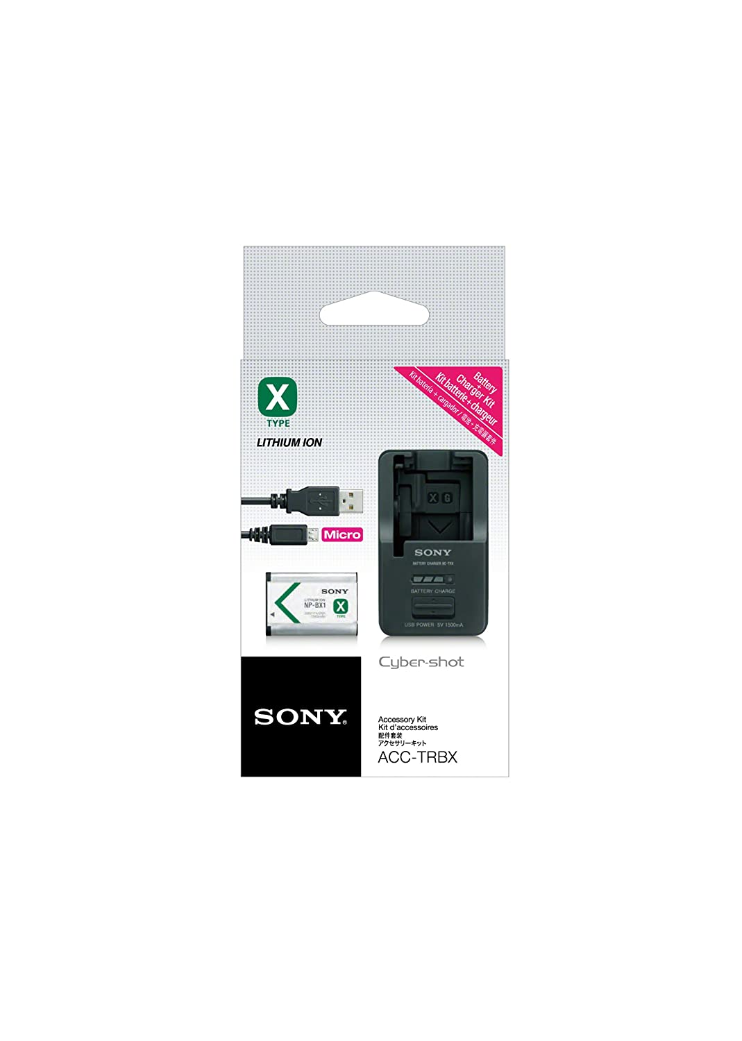 Sony ACCTRBX  Battery Charger Black Battery  and USB Cable