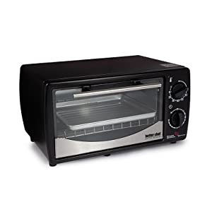 0.32 Cubic Foot Toaster Oven Broiler Color: Black