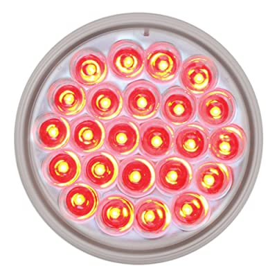 "Grand General 76508 Red 4"" 24 Pearl LED Strobe Light with Clear Lens: Automotive"
