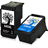 H&BO for Canon PG-645XL CL-646XL Remanufactured Ink Cartridge Use for Canon PIXMA IP2860 MX496 MG2460 MG2560 MG2960 Home TS3160 206 306 (1 Black 1 Tri-Color)