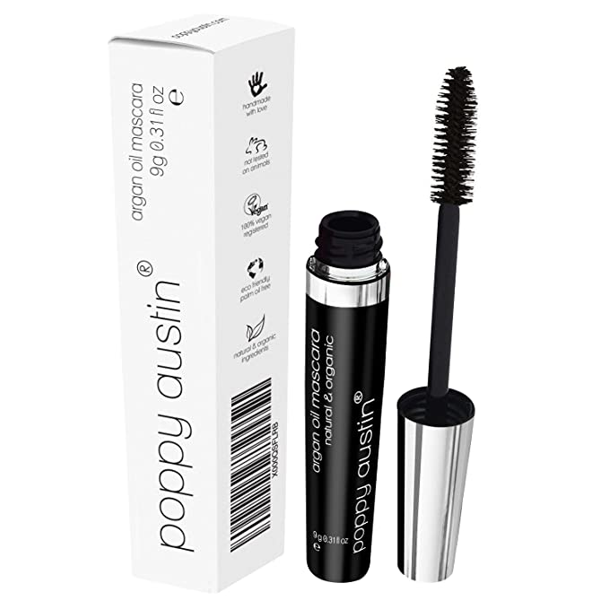 f71f272d201 FINEST Vegan & Organic Lengthening Mascara Black With Argan Oil -  Cruelty-Free, Best Natural Volumising, Thickening, Smudge Proof,  Hypoallergenic, ...