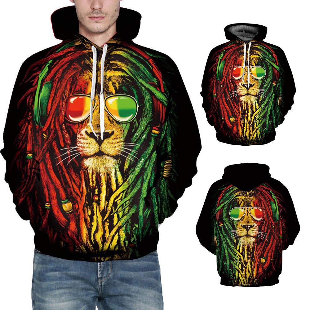 2018 Big Promotion Caopixx Sweatshirt for Men Autumn Winter 3D Print Long Sleeve Hooded Pullover Top Blouse