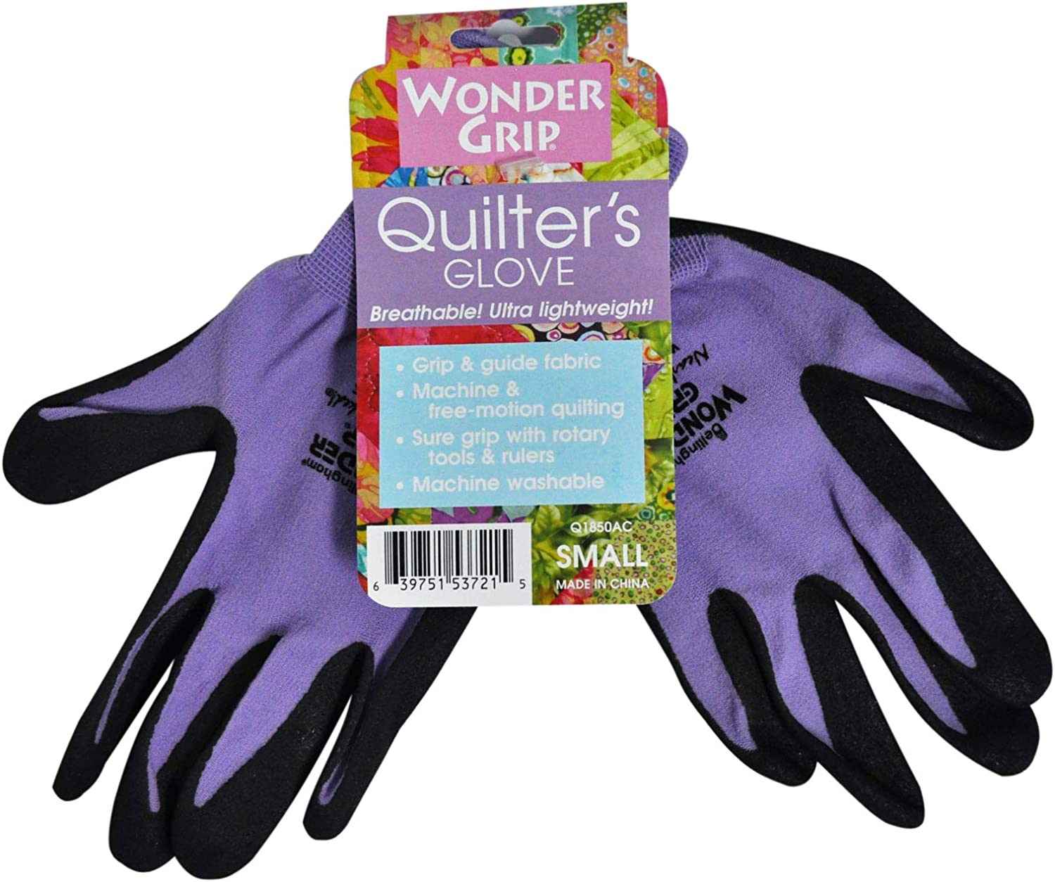 Wonder Grip Quilters Assorted Colors Gloves