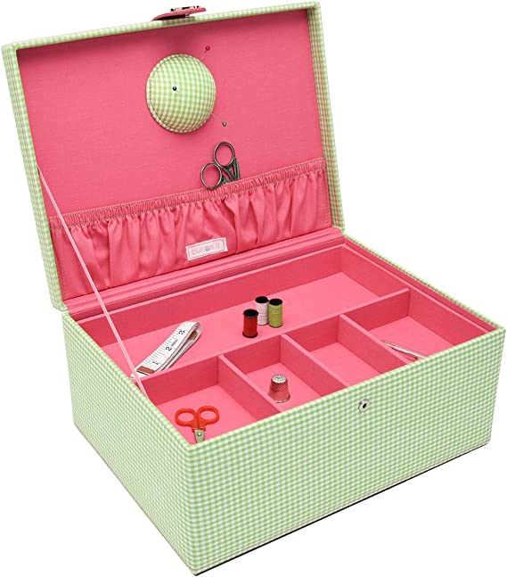 Button It 82229 verde Gingham Pink Lining patrones de costura para ...