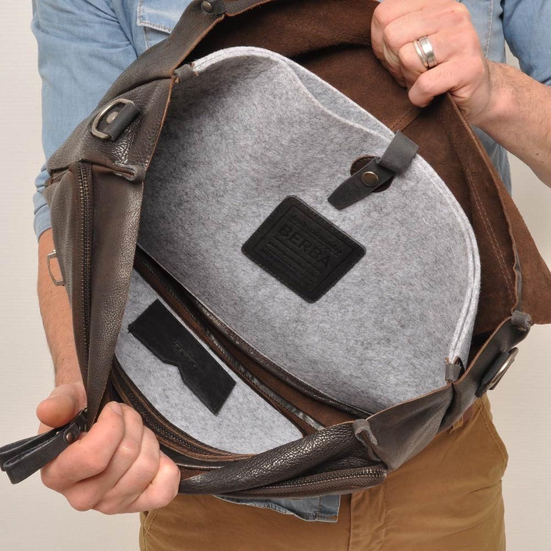 berba Bern 315 Business satchel in dark brown
