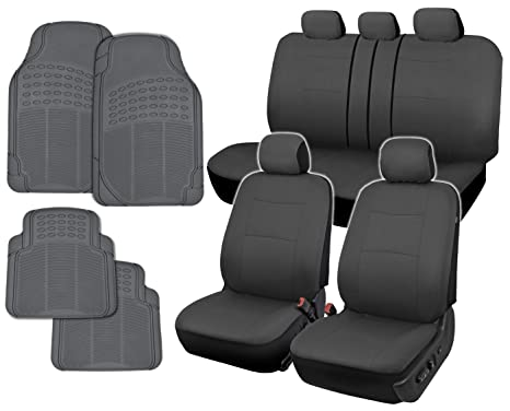 Strange Bdk Instaseat Car Seat Covers Floor Mats Solid Gray Neocloth All Weather Rubber Caraccident5 Cool Chair Designs And Ideas Caraccident5Info