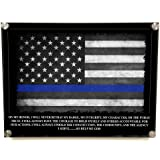 Brotherhood Police Officers Oath Stand Off Wall Decor - Thin Blue Line American Flag Police Academy Graduation Gift - Police Wall Art