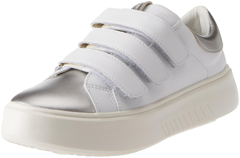 Geox D Nhenbus C, Zapatillas para Mujer 41 EU|Blanco (White)
